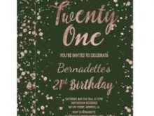 86 Best 21St Birthday Card Invitation Templates For Free for 21St Birthday Card Invitation Templates