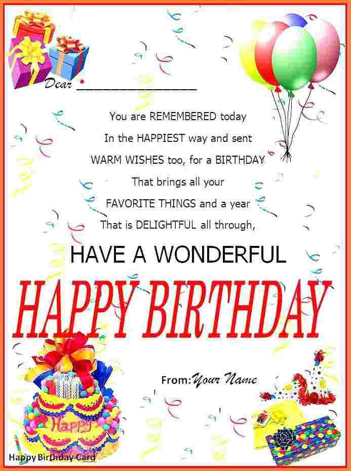 86 Best Birthday Card Template In Word in Word for Birthday Card Template In Word
