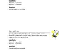 86 Blank Microsoft Word Recipe Card Templates Now with Microsoft Word Recipe Card Templates