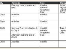 86 Create 3 Day Travel Itinerary Template in Word with 3 Day Travel Itinerary Template