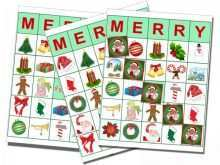 86 Create Christmas Bingo Card Template in Word with Christmas Bingo Card Template