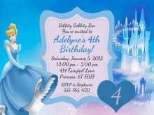 86 Creative Cinderella Birthday Card Template PSD File for Cinderella Birthday Card Template