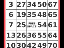 86 Customize Bingo Card Template Word Document For Free for Bingo Card Template Word Document