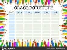 86 Customize Class Schedule Template Design Layouts with Class Schedule Template Design