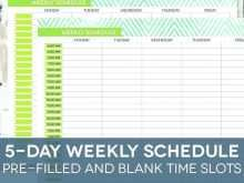 Free Daily Calendar Template With Times