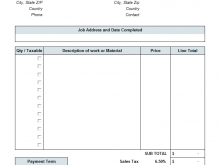 Tax Invoice Contractor Example
