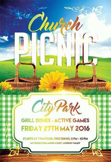 86 Format Church Picnic Flyer Templates Maker by Church Picnic Flyer Templates