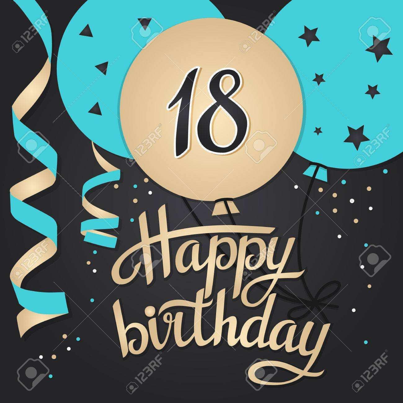 86 Free Printable 18Th Birthday Card Template PSD File with 18Th Birthday Card Template