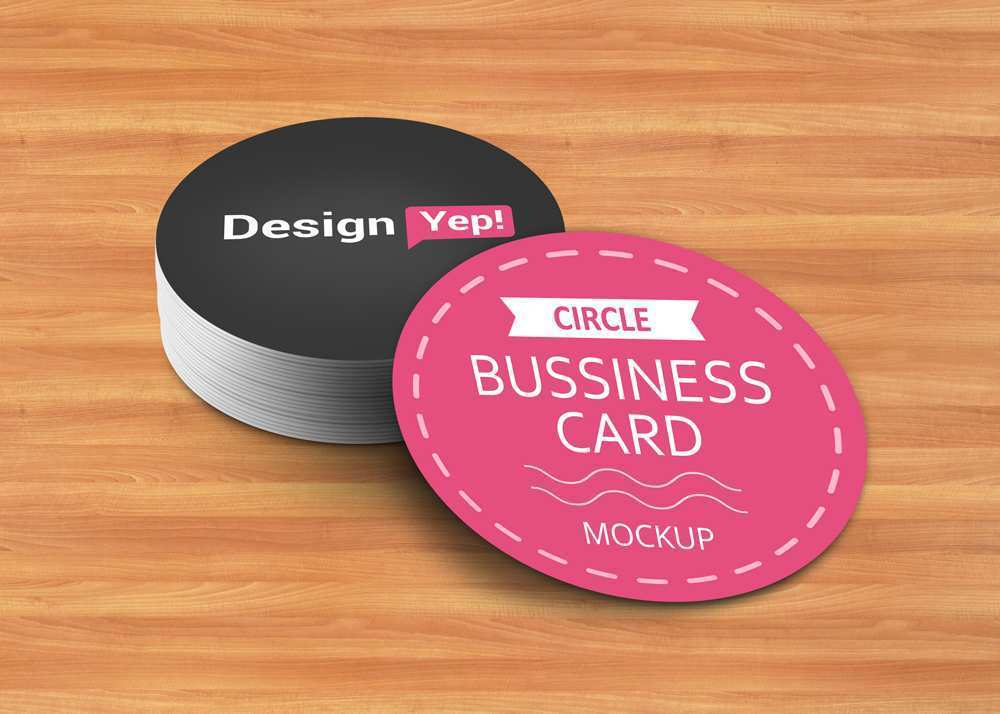 86 Online Circle Business Card Template Free Download With Stunning Design for Circle Business Card Template Free Download
