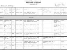 86 Standard Production Shooting Schedule Template PSD File with Production Shooting Schedule Template