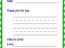 Fill In The Blank Thank You Card Template