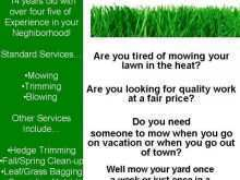 87 Adding Lawn Mowing Flyer Template Now by Lawn Mowing Flyer Template