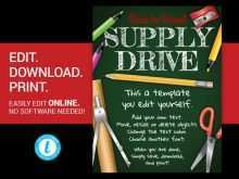 Back To School Supply Drive Flyer Template