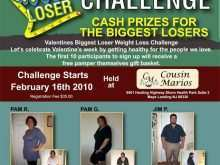 87 Blank Biggest Loser Flyer Template For Free for Biggest Loser Flyer Template