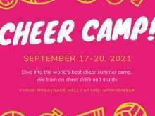 87 Cheer Camp Flyer Template For Free with Cheer Camp Flyer Template
