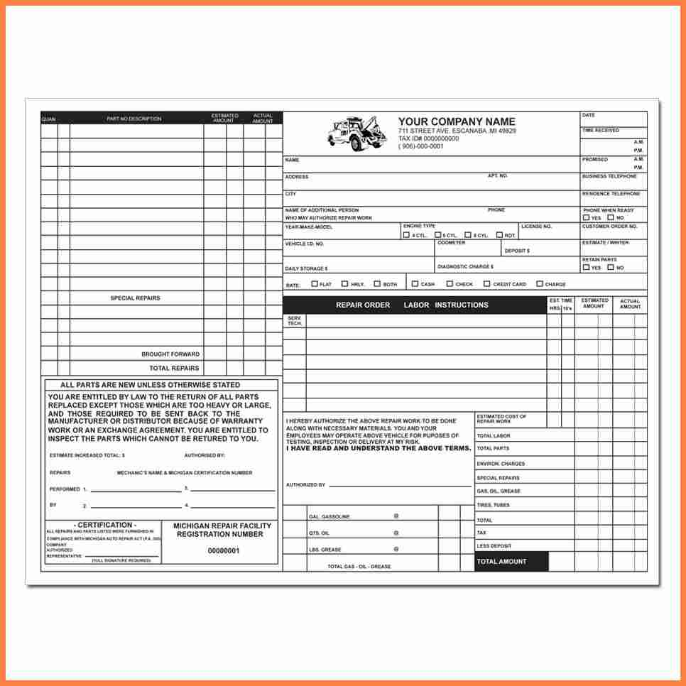 87 Create Body Repair Invoice Template With Stunning Design with Body Repair Invoice Template