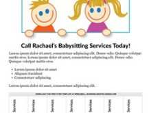 87 Creating Babysitting Flyers Template Photo for Babysitting Flyers Template
