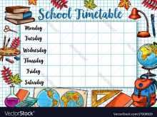 87 Creating Back To School Schedule Template for Ms Word with Back To School Schedule Template