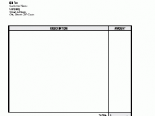 87 Creating Basic Personal Invoice Template With Stunning Design by Basic Personal Invoice Template