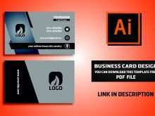 87 Creating Business Card Template On Illustrator in Word with Business Card Template On Illustrator