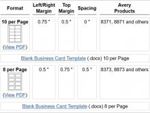 87 Creating Business Card Template Word 10 Per Sheet for Ms Word with Business Card Template Word 10 Per Sheet