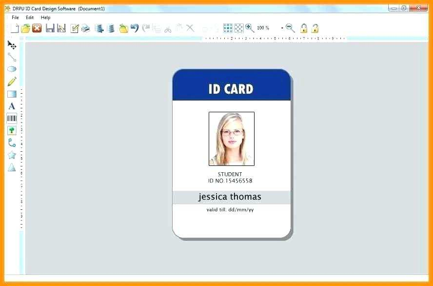 87 Creating Id Card Template In Microsoft Word For Free By Id Card Template In Microsoft Word Cards Design Templates