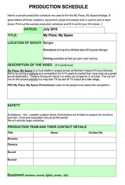 87 Creating Production Plan Film Template Templates with Production Plan Film Template