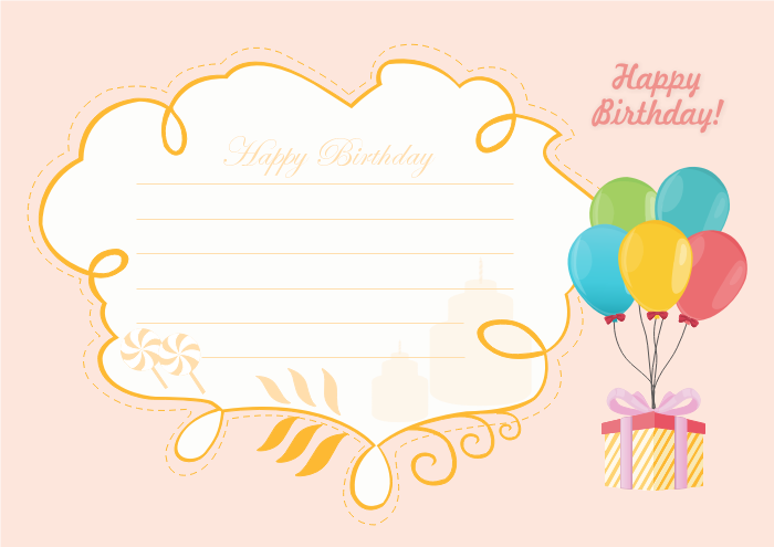 87 Creative B Day Card Template for Ms Word with B Day Card Template