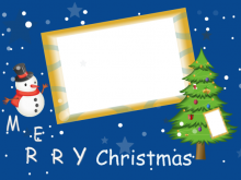 Christmas Card Template Blue