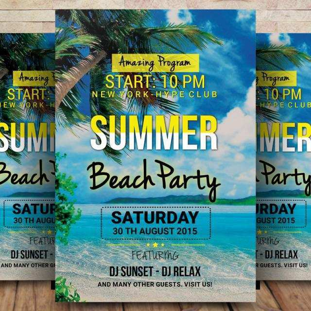 87 Customize Our Free Caribbean Party Flyer Template PSD File for Caribbean Party Flyer Template