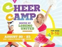 87 Customize Our Free Cheer Camp Flyer Template Maker for Cheer Camp Flyer Template
