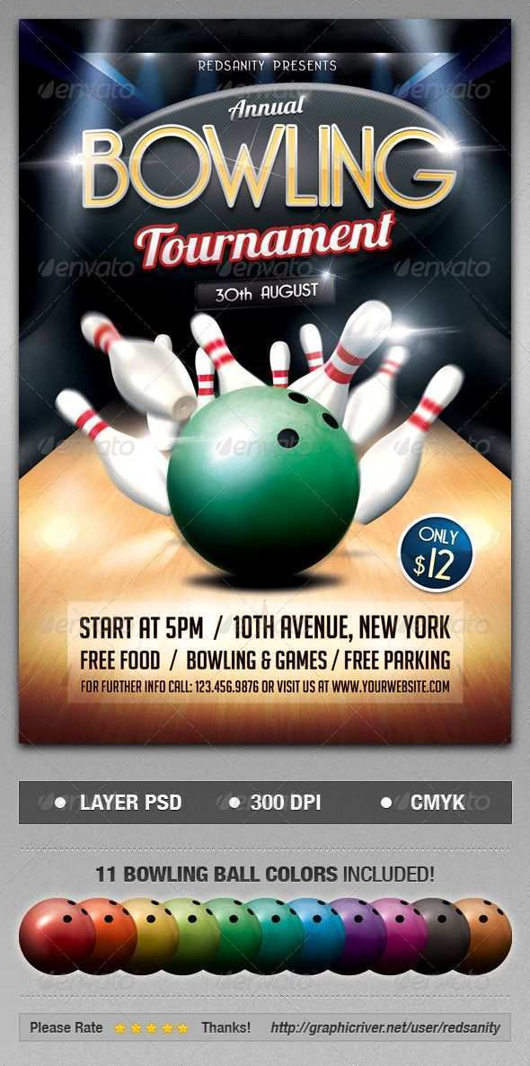 87 Free Bowling Night Flyer Template Templates with Bowling Night Flyer Template