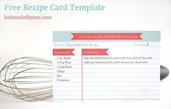 87 Free Word Recipe Card Template Free For Free with Word Recipe Card Template Free