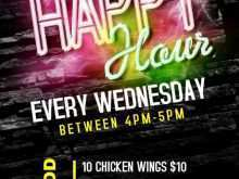 87 Printable Happy Hour Flyer Template Free With Stunning Design by Happy Hour Flyer Template Free