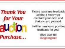 87 Printable Thank You Card Template Ebay With Stunning Design With Thank You Card Template Ebay Cards Design Templates