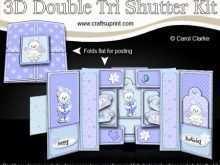 Shutter Card Template Free