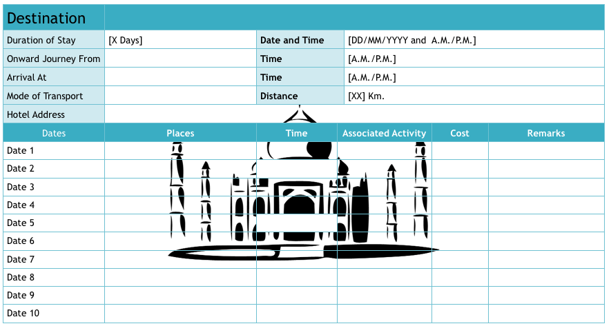 87 Standard 4 Day Travel Itinerary Template for Ms Word by 4 Day Travel Itinerary Template