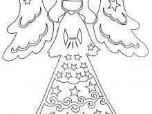 87 Standard Christmas Card Angel Template For Free for Christmas Card Angel Template