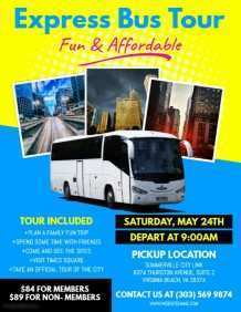 87 Visiting Bus Trip Flyer Template Formating with Bus Trip Flyer Template