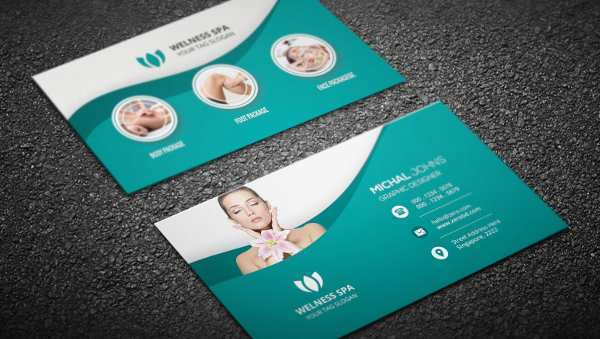 88 Best Business Card Template Spa by Business Card Template Spa