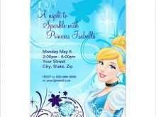 88 Best Cinderella Birthday Card Template Maker for Cinderella Birthday Card Template