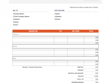 88 Best Template Of Company Invoice For Free with Template Of Company Invoice