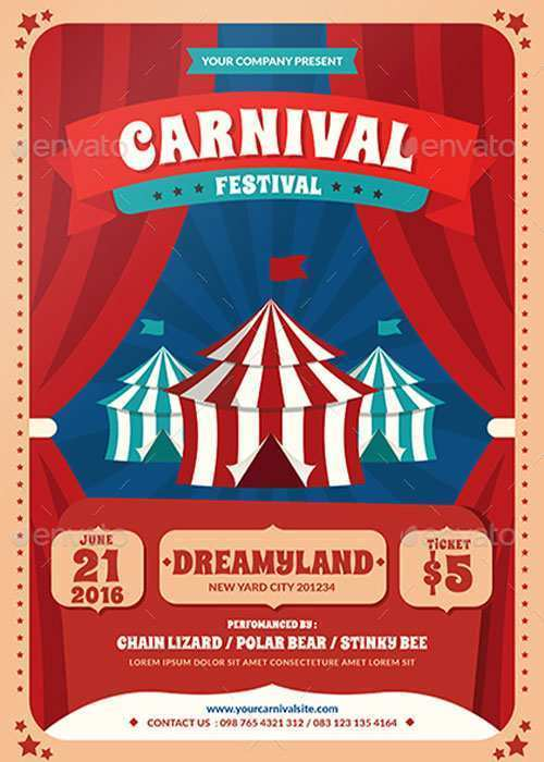88 Blank Carnival Themed Flyer Template With Stunning Design by Carnival Themed Flyer Template