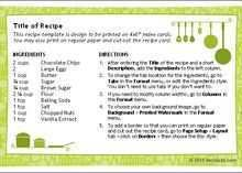 88 Blank How To Make Recipe Card Template In Word With Stunning Design for How To Make Recipe Card Template In Word