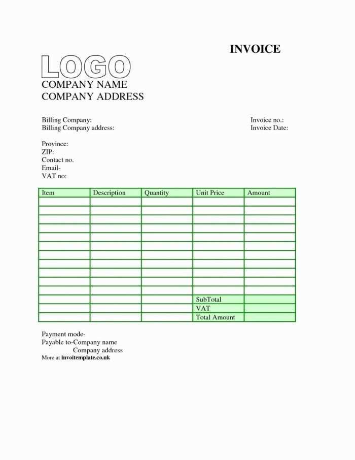 88 Create Personal Invoice Template Word Uk For Free For
