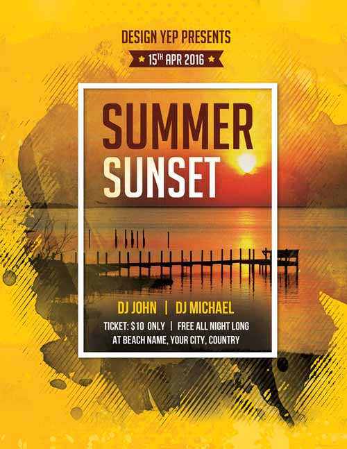 88 Creating Beach Flyer Template Free Now by Beach Flyer Template Free