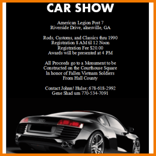 88 Creating Car Show Flyer Template Word Photo For Car Show Flyer Template Word Cards Design Templates
