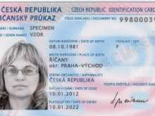 German Id Card Template