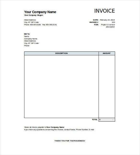 88 Creative Blank Invoice Template Xls Formating by Blank Invoice Template Xls