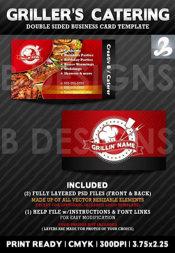 88 Creative Catering Business Card Template Download Now with Catering Business Card Template Download